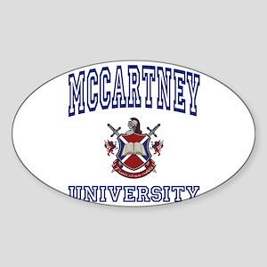 MCCARTNEY University Oval Sticker