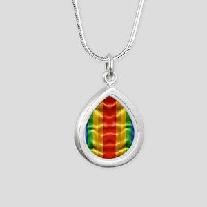 rainbow-flag-ripple_ff Silver Teardrop Necklace