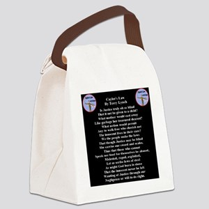 caylees_law_poem_terrylynch_inver Canvas Lunch Bag