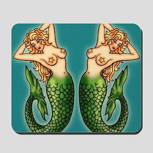 retro-tattoo-mermaid_ff Mousepad