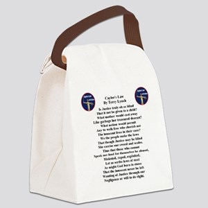 caylees_law_poem_terrylynch Canvas Lunch Bag