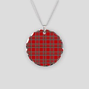 plaid-tartan_ff Necklace Circle Charm