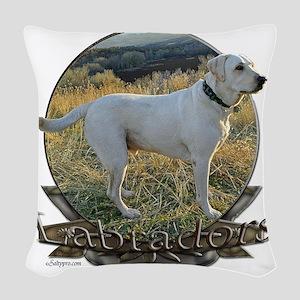 Labradors Woven Throw Pillow