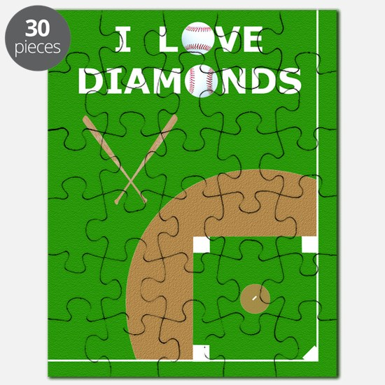Baseball iPad Case, I Love Diamonds Puzzle