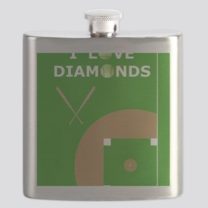 Softball iPad Case, I Love Diamonds Flask