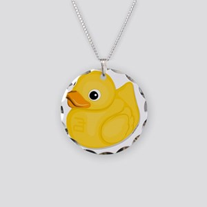rubberduck-logo Necklace Circle Charm