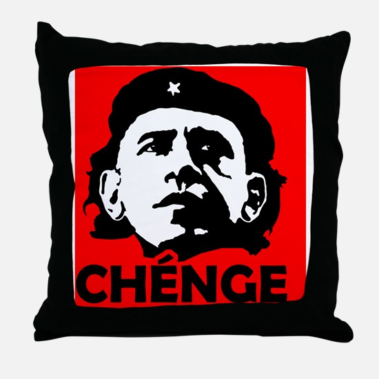 Che-Bama NEGATIVE RED BLACK FOR LIGHT Throw Pillow
