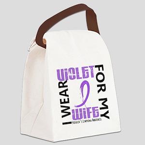 D I Wear Violet Wife 46 Hodgkins  Canvas Lunch Bag