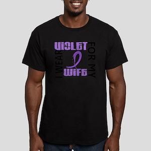 D I Wear Violet Wife 4 Men's Fitted T-Shirt (dark)