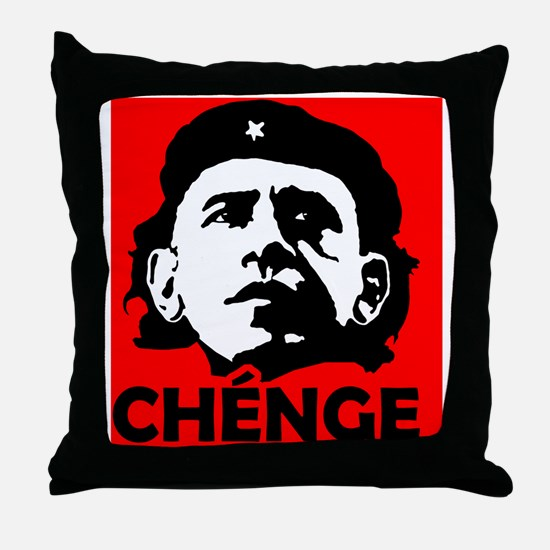 Che-Bama POSITIVE RED BLACK WHITE Throw Pillow