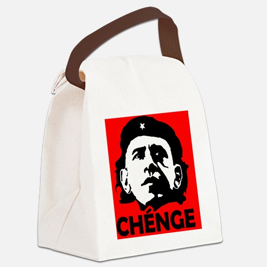 Che-Bama POSITIVE RED BLACK WHITE Canvas Lunch Bag