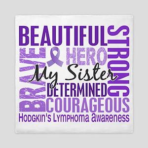 D Tribute Square Sister Hodgkins Lymph Queen Duvet