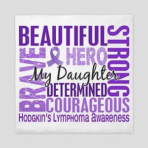 Tribute Square Daughter Hodgkins Lymph Queen Duvet