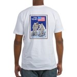 Flag on the Moon Apollo 11 Fitted T-Shirt