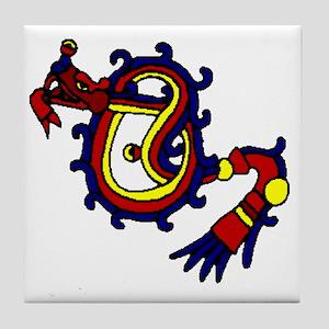 featheredserplrg Tile Coaster
