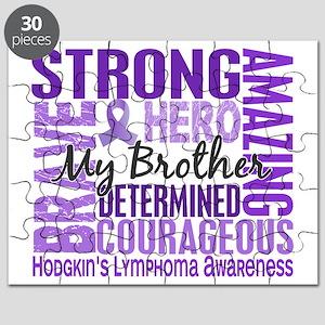D Tribute Square Brother Hodgkins Lymphoma Puzzle