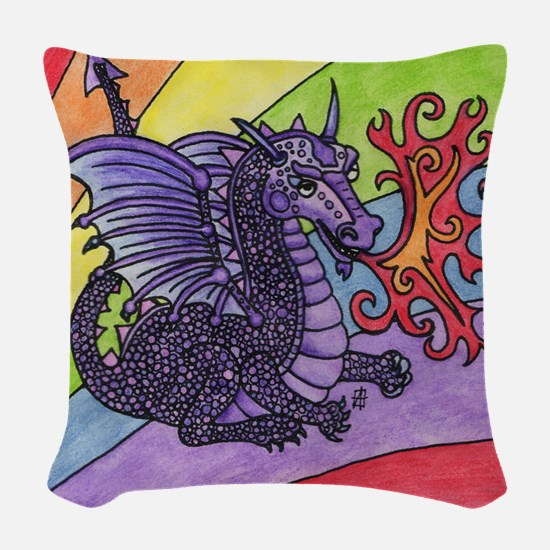rbwdrgn Woven Throw Pillow