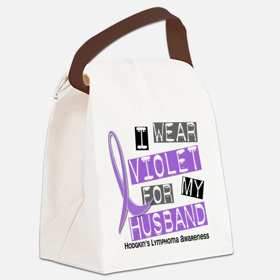 D I Wear Violet Husband 37 Hodgki Canvas Lunch Bag