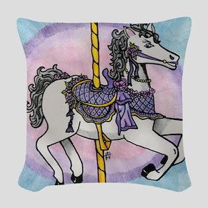 horsey2 Woven Throw Pillow