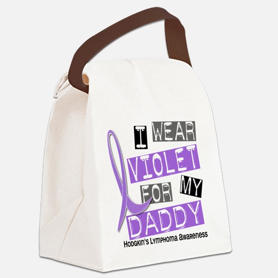 D I Wear Violet Daddy 37 Hodgkins Canvas Lunch Bag