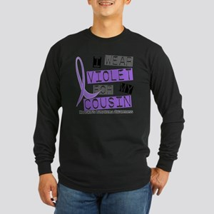 D I Wear Violet Cousin 37 Long Sleeve Dark T-Shirt