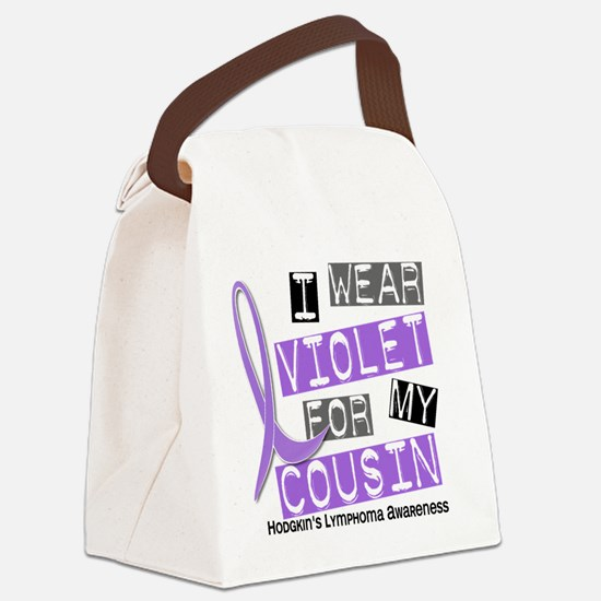 D I Wear Violet Cousin 37 Hodgkin Canvas Lunch Bag