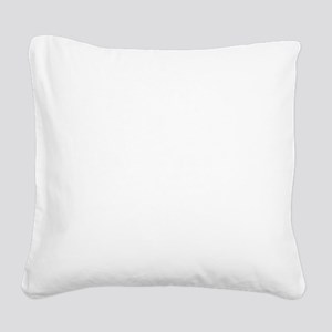 NEVER_GIVE_UP_wht Square Canvas Pillow