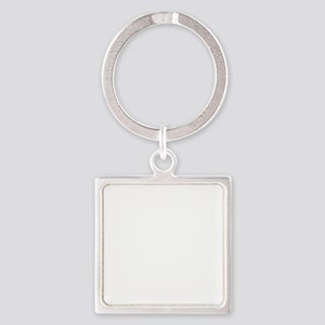 NEVER_GIVE_UP_wht Square Keychain
