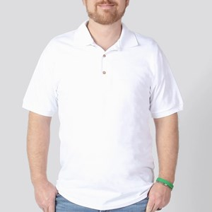 NEVER_GIVE_UP_wht Golf Shirt
