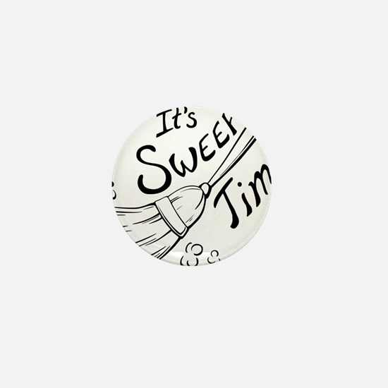Sweep Time Black Mini Button