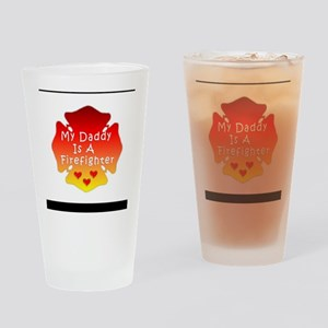 Firefighter Dad Drinking Glass