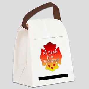 Firefighter Dad Canvas Lunch Bag