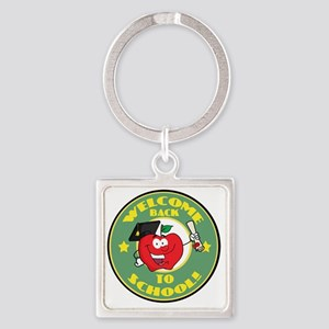 back to school apple Square Keychain