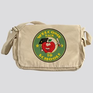 back to school apple Messenger Bag