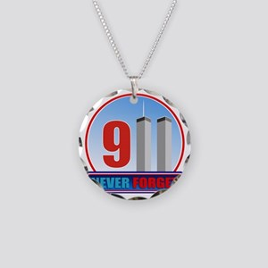 911 WTC Never Forget Necklace Circle Charm