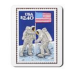 US Flag on the Moon Apollo 11 Mousepad
