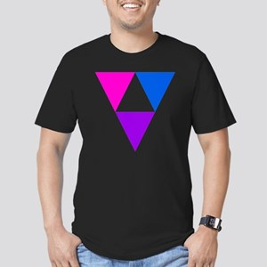 LGBT Triforce Men's Fitted T-Shirt (dark)
