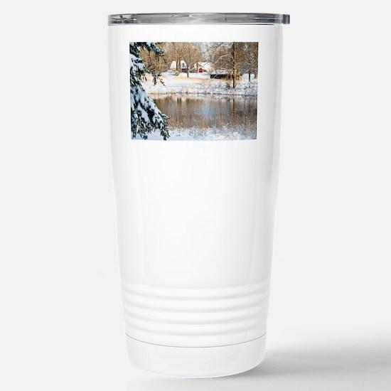 homePondSnow_blanket Stainless Steel Travel Mug