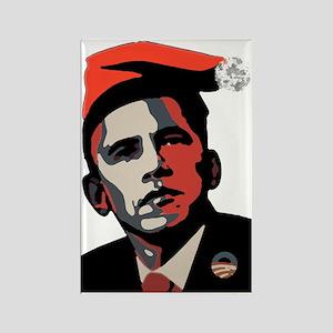 Barack_Obama_HOHOHO Rectangle Magnet