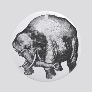 justElephant Round Ornament