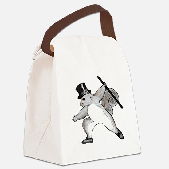 cafepress squirrel Canvas Lunch Bag