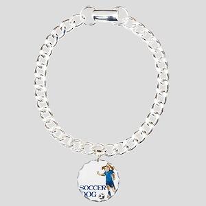 SOCCER DOG LOGO A 10a bl Charm Bracelet, One Charm