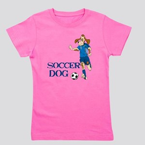 SOCCER DOG LOGO A 10a blue Girl's Tee