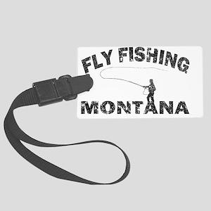 Montana Fly Fishing_Black Large Luggage Tag