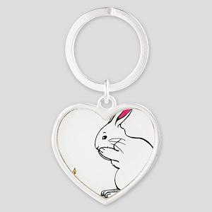 cafepressbirthdaybunny Heart Keychain