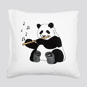 cafepress panda1 Square Canvas Pillow