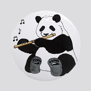 cafepress panda1 Round Ornament