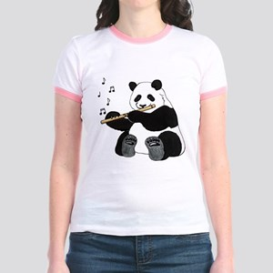 cafepress panda1 Jr. Ringer T-Shirt