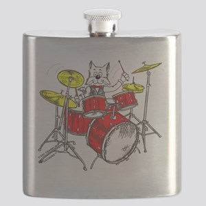 Drums in color Trans BackII Flask