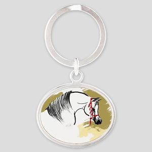 caballoa2x Oval Keychain